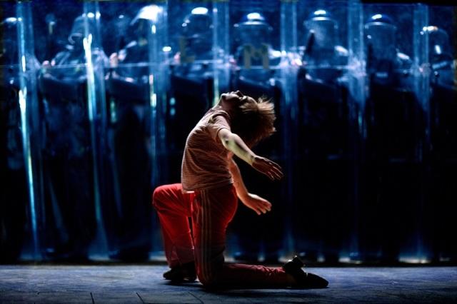1. Liam Mower (Billy Elliot) and police, by David Scheinmann (2005)