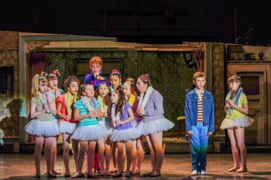 """Janet-Dickinson-Mrs.-Wilkinson-Drew-Minard-Billy-Samantha-Blaire-Cutler-Debbie-and-the-cast-of-""""Billy-Elliot-the-Musical.""""-Photo-by-Amy-Boyle"""
